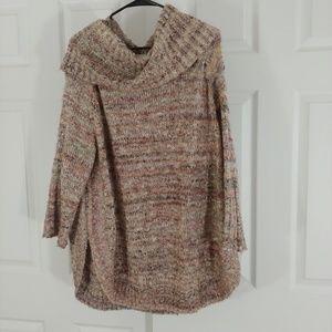 Dressbarn tweed tunic style sweater